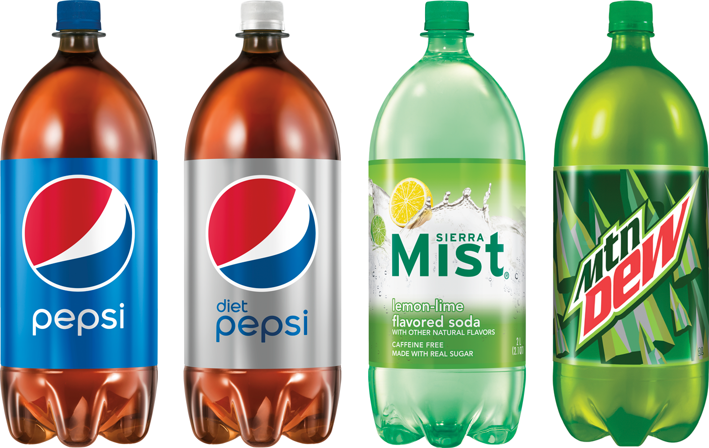 Pepsi Products in 2 Liter Bottles